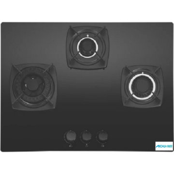 Elica Black Toughened Glass Hob 3 Burner