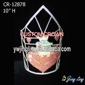10 Inch Frog King Heart Crowns Love