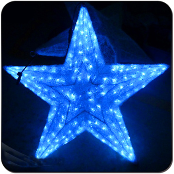Blue color led Acrylic Star from ikea