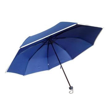 Three fold auto open and close advertising umbrella