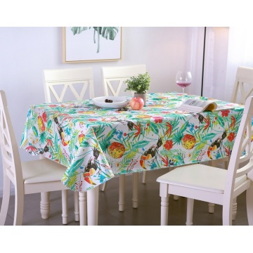 10 Years for Transparent Table Cover Tablecloth PE with Needle-punched Cotton Chinese Painting export to Guadeloupe Importers