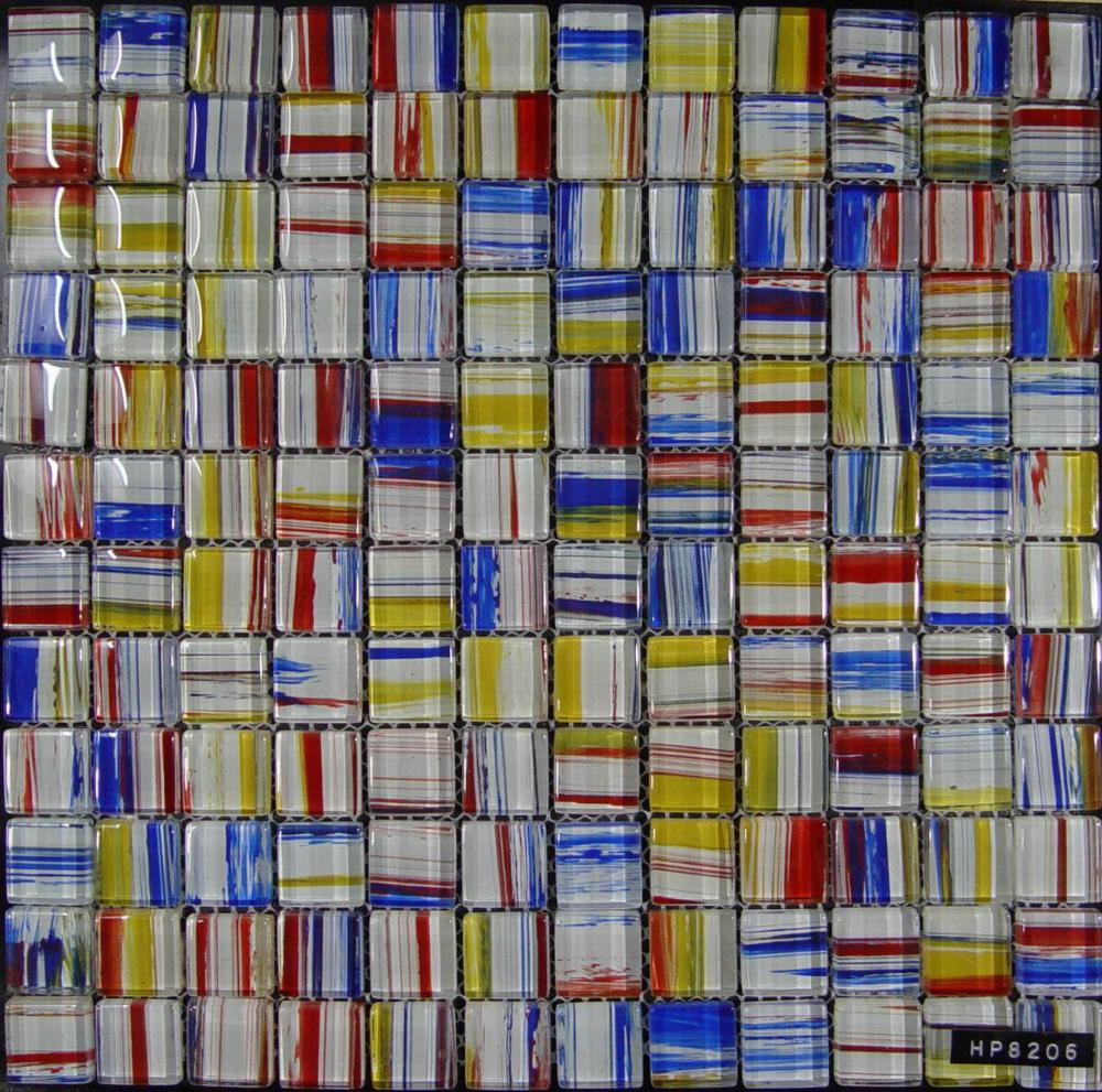 Fashion Stripe Painting Glass Mosaic