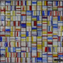 Colorful Stripe Painting Glass Mosaic
