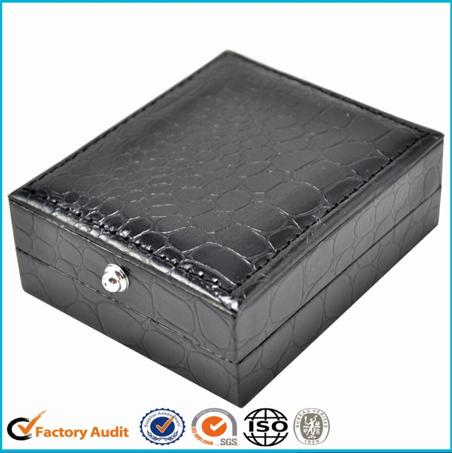 Hot Sale Leatherette Paper Cufflinks Package Box