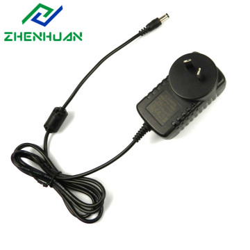 24V1A Black AC to DC Wall Plug Adapter