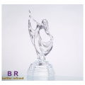 Glass Dancing Girl Statue For Home Decoration