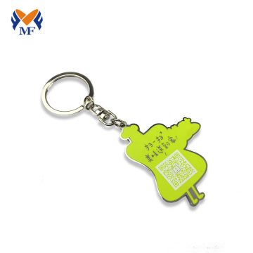 Metal personalized gift keychain in bulk