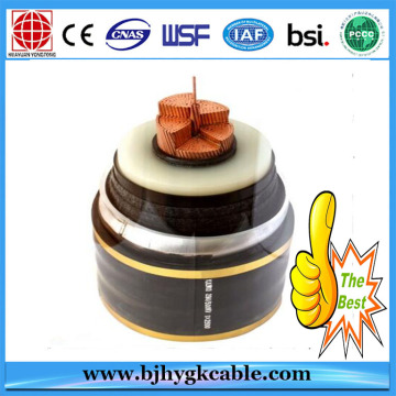 500kV CU/XLPE/CAS/PVC High Voltage Cable 1x1200