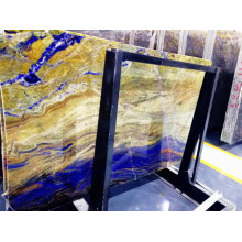 Customized for Semi Precious Stone Coffee Table Semi Precious Blue Granite Clear Transparent StoneTiles supply to South Korea Factories