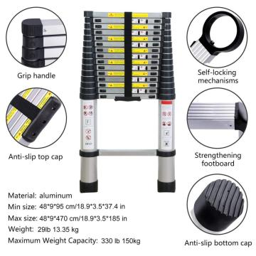 5m Single sided telescopic aluminum ladder