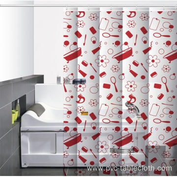 Waterproof Bathroom printed Shower Curtain Tie Backs