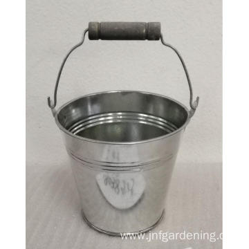 Vintage old white small iron bucket
