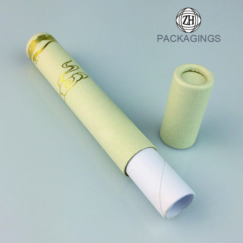 Custom gold stamping paper incense package tube