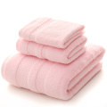 Pink Bath Towel Sets Towel in Plain Colors