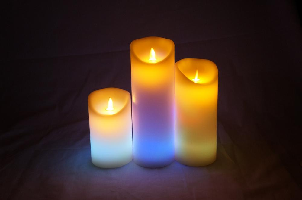 rechargeable led pillar candle