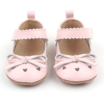 Bowknot Pink heart Pattern Baby Girl Shoes