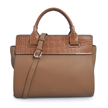 Ikon Large Top Handle Bag Tan Handbags Croco