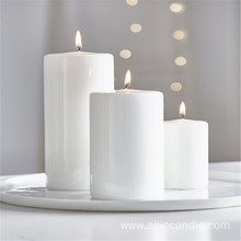 Multi colored pillar candles wedding unity candles