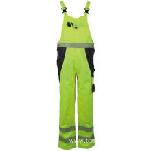 Workwear Reflective Working Hi Vis Bib Pants