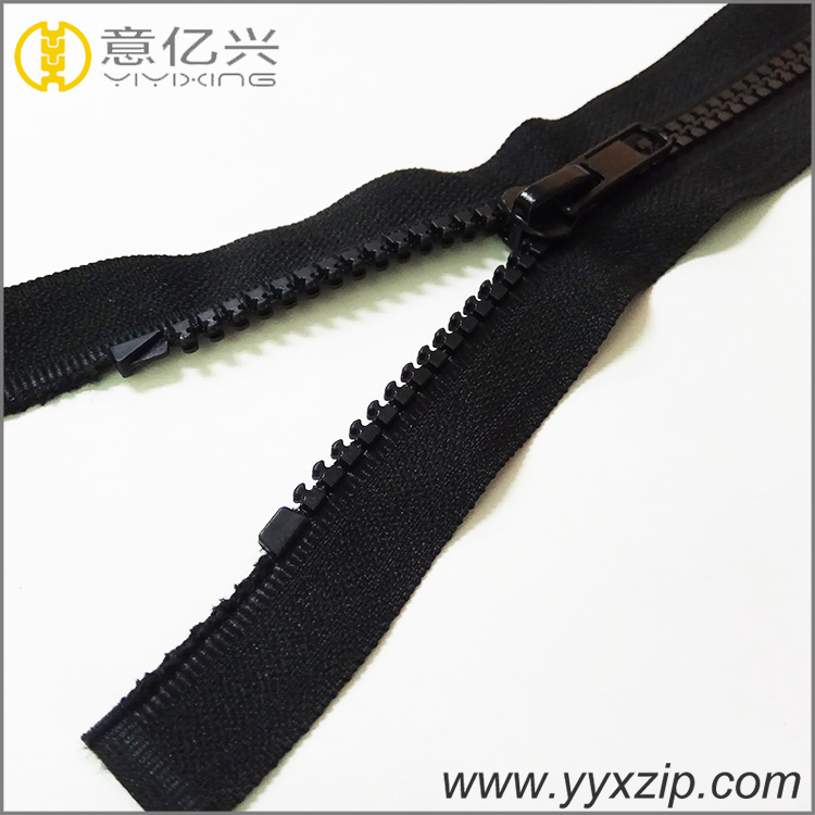 Black Plastic Zip