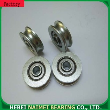 Roller ball bearings brass U groove pulley