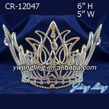 Full Round Pageant Crowns Gold Plating