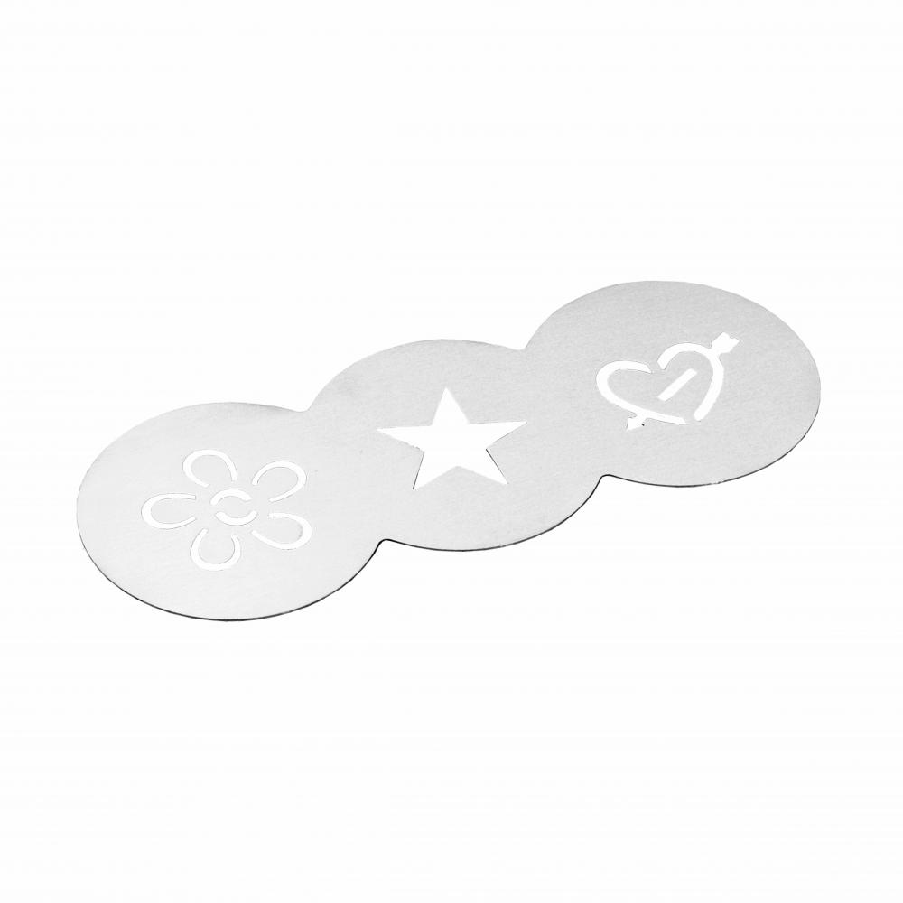 stainless steel cappuccino stencil template