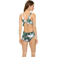 Summer Sexy Back Bikini Polyester Tight Lady Swimsuit