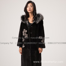 Mink Fur Reversible Coat For Lady