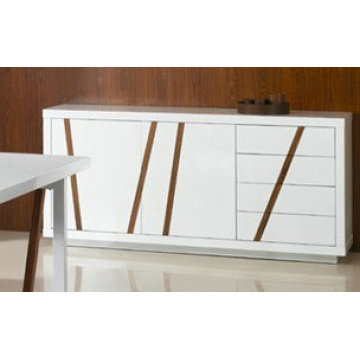 Modern white high gloss dining room sideboard
