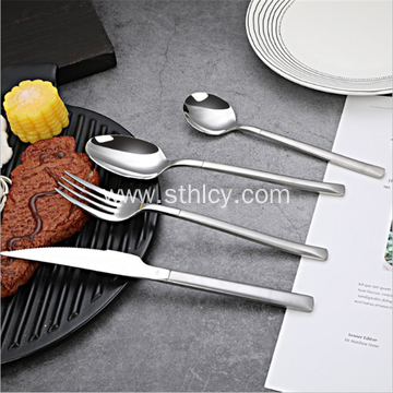 Stainless Steel Cutlery Fork and Spoon Knight Series