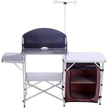 Outdoor Portable Cook Station Aluminum Camping Kitchen