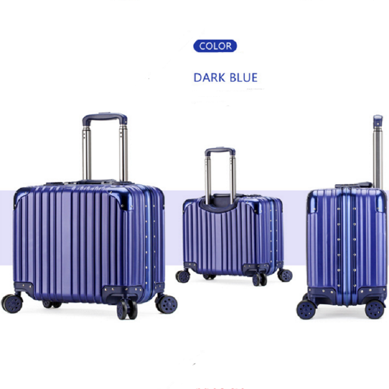Blue office luggage