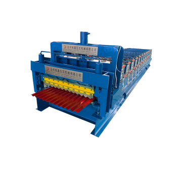 Color sheet corrugated IBR metal roofing machine