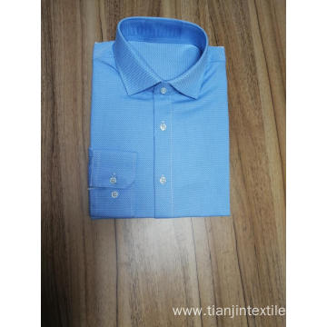 men's jacquard long sleeve shirt 100%cotton slim fit