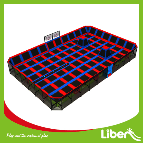 Building indoor trampoline site