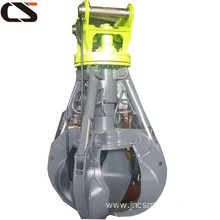 Long life factory supply excavator Hydraulic peel grapple