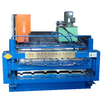 Trapezoidal corrugated double sheet roll forming machine