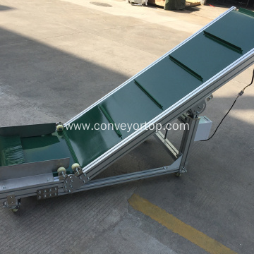 Movable Food Grade Incline Conveyor Assembly Line System