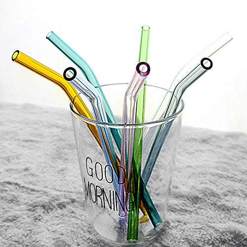Glass Eco-Friendly FDA Reusable Drinking Straw Customized Logo Packing