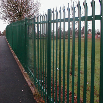 Galvanized then PVC painting iron palisade fencing