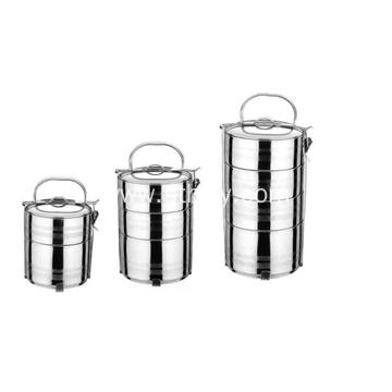 Custom 2/3/4 Tier Stainless Steel Food Container Set