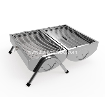 Stainless Steel Double Sided Portable Charcoal Grill
