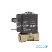 Excellent quality price for Europe Type Tube Connector Valve Brass Welding 37V Co2 Gas Solenoid Valve supply to Honduras Manufacturer