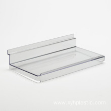 Wholesale Acrylic Slatwall Shoe Shelf with Lid