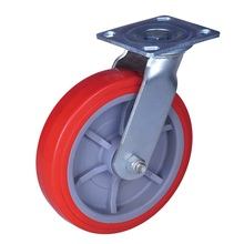 Heavy duty industrial caster with pu wheels