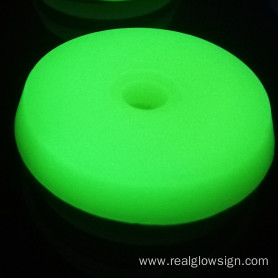 Realglow Photoluminescent Disc Yellowgreen
