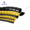 Flexible environmentally mining hose spiral protective cover