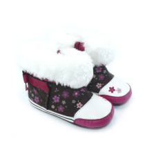 Wholesales Flower Print Cotton Winter Baby Boots