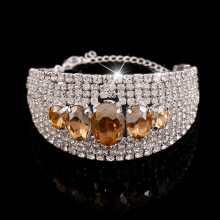 China Exporter for Fashion Women Bracelets 2018 Fashion Gold Crystal Chain Bracelet export to Indonesia Factory